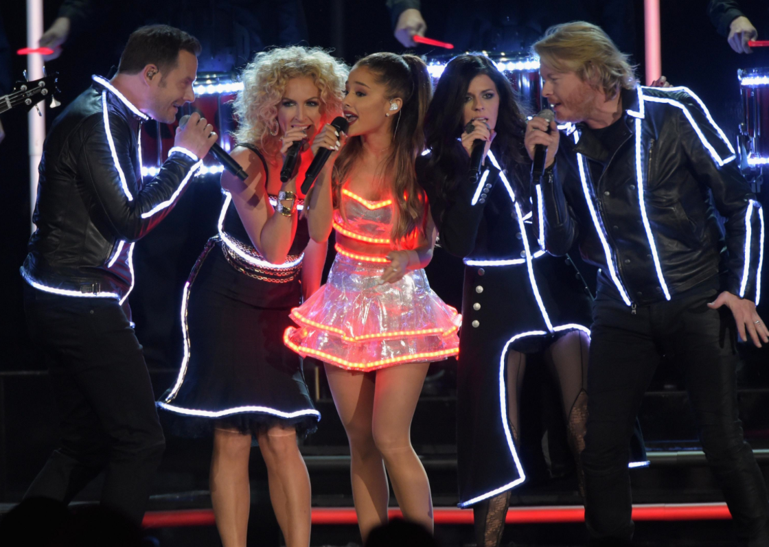 Ariana Grande and Little Big Town at the 2014 Country Music Awards