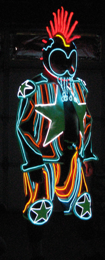 Cool Neon EL Wire Star Suit