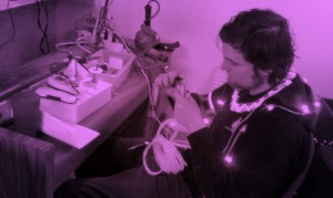 Cool Neon EL Wire soldering expert Josh
