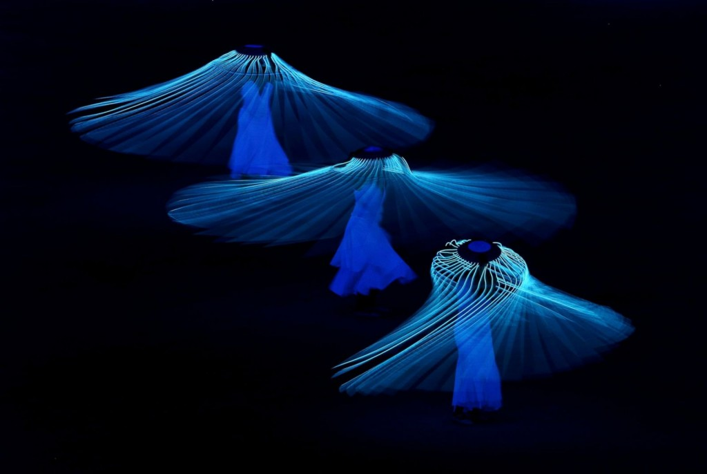 "http://abcnews.go.com/Sports/photos/winter-olympics-2014-opening-ceremony-22409180/image-22415186 Clive Mason/Getty Images ""Dancers perform during the Opening Ceremony of the Sochi 2014 Winter Olympics at Fisht Olympic Stadium on February 7, 2014 in Sochi, Russia."""